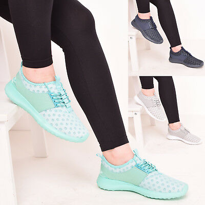 Ladies Womens Trainers Gym Fitness P.e Running Jogging Lace Up Shoes Size  3-8 a1508f108