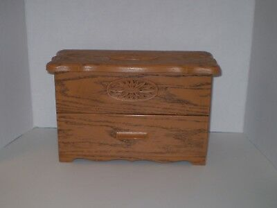 VTG/LERNER Sewing Box/Recipe File/Craft/Maple/Pre owned