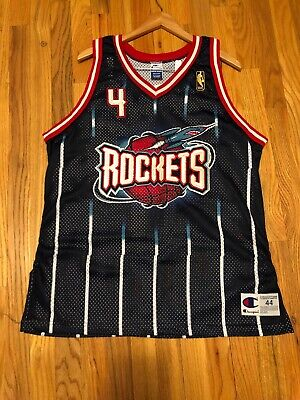 ee5fca627 Vtg Charles Barkley Houston Rockets Nba 50 Champion Authentic Jersey Size M l  44