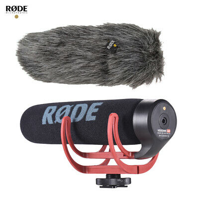 RODE VideoMic GO On-Camera Shotgun Microphone + Fur Wind Shield for Camera T4M2
