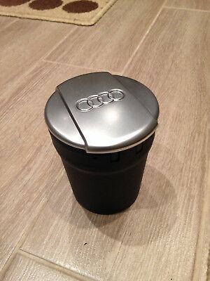 Audi Coin Holder / Ashtray / Storage Cup  8X0 864 575A Brushed Chrome Lid Vgc