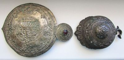 Rare Antique Lot Single Ottoman Empire/bulgaria Women's Folk Silver Belt Buckles