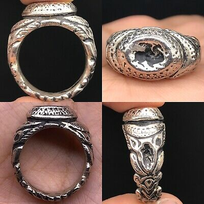 Unique Ancient Solid Silver Roman Wonderful old Ring 13 gr