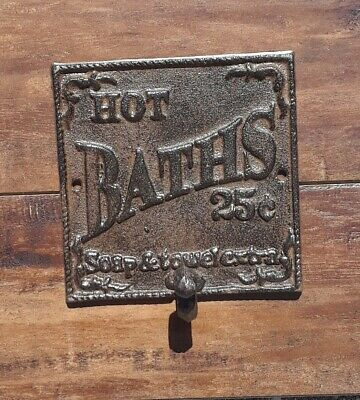 Cast Iron Hot And Bath Towel Holder Rustic Style ,Brown/black color