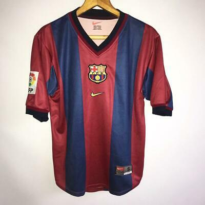 outlet store f1937 2872c RARE VINTAGE BARCELONA Home 2000/01 Original Football Shirt Jersey Nike /  Size S