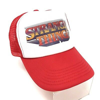 Stranger Things Hat Snapback Trucker Netflix Official Merchandise Red White cff2a01f6d64