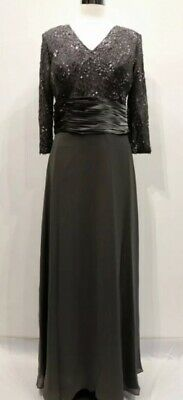 Mother Of The Bride Dress Nightscene Et300 Charcoal Size M