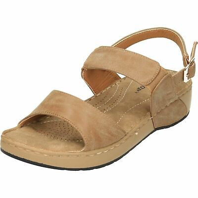 Ladies Slingback Cushioned Dunlop Sandals Womens Open Toe Strappy Comfort Shoes