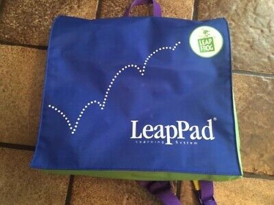 Leap Frog Lot Leap Pad Learning System Books Cartridges & Case Backpack