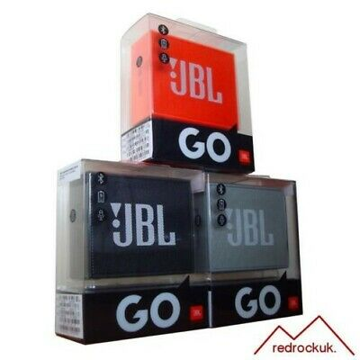 JBL Go Portatile Wireless Bluetooth Altoparlante Stereo - Nero, Grigio & Orange