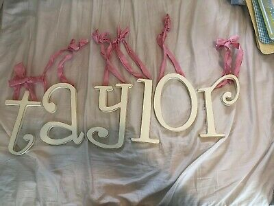 Taylor Personalized Letters Baby Kid Bedroom Decor