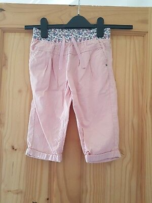 Lovely GIRLS NEXT PINK CROPPED TROUSERS 7 YEARS VGC