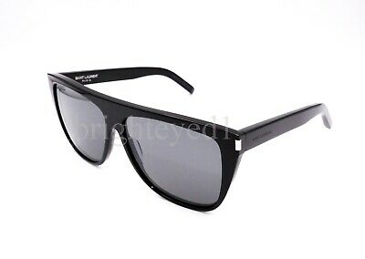 552b21d10e NEW SAINT LAURENT SL1 002 Limited Edition Black Flat Top Sunglasses ...