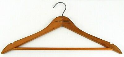 "Schine Hotels Wooden Clothes Hanger 18"" Vintage Collectible"