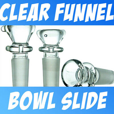 Clear Glass on Glass Slide Bowl ( Small Personal Snapper ) Funnel Style 10-18mm