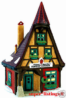 Dept. 56 Kukuck Uhren Cuckoo Clock Shop Retired 1998 Alpine Village 56191