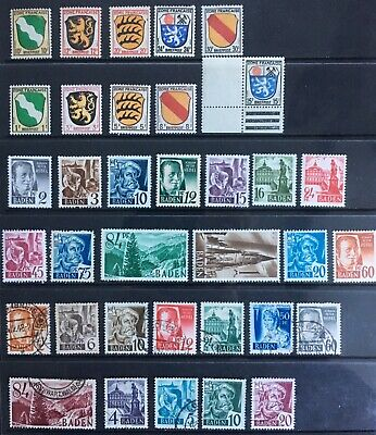 Germany: Allied Occupation 1945-1948 French Zone & Baden issues MNH/MLH & Used