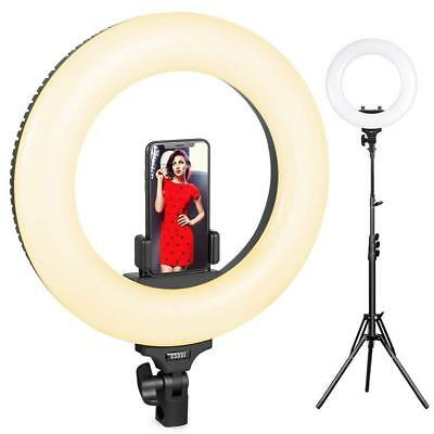 Ring Light with Stand LED Ring Light 14 inch Built-in Adjustable Temp 40W Dim
