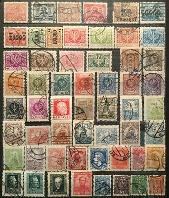 Poland.  - Used Stamps From 1922-29