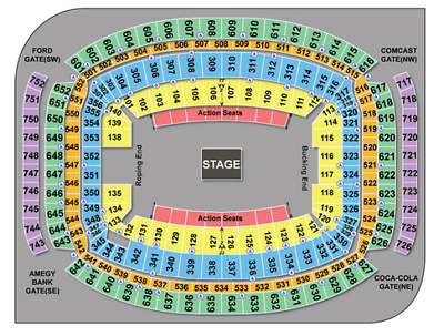 4 Kings of Leon Tickets at Rodeo Houston, Mar 12, Section 129, Row HH