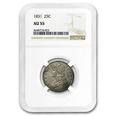 1831 Capped Bust Quarter AU-55 NGC (Small Letters) - SKU#187332