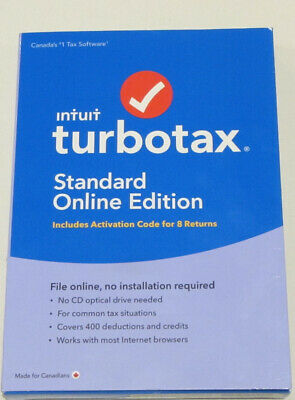 Intuit Turbotax Standard Online Edition Activation Code for 8 Returns 2017