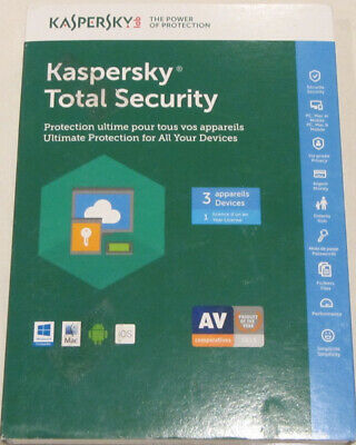 Kaspersky Total Security 3 Devices 1 Year Licence  All Your Devices