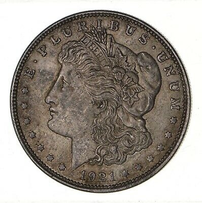 1921 - Morgan Silver Dollar - Last Year - 90% - US Coin *136