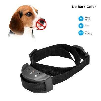 Dog Shock Collar Training Anti-Bark Control Adjustable All Size Dogs LED Sound