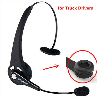 Bluetooth Headset Over the Head Hands-free for Truck Drivers Wireless with Mic