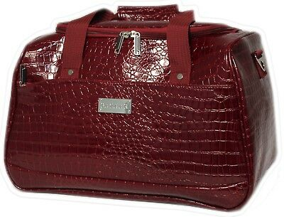 BAZAAR - CABIN / OVERNIGHT BAG - Red Croc - BNWT RRP$89