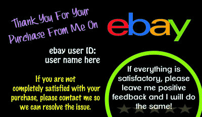 1000 eBay seller THANK YOU Business Cards, Personalized *Free Shipping*