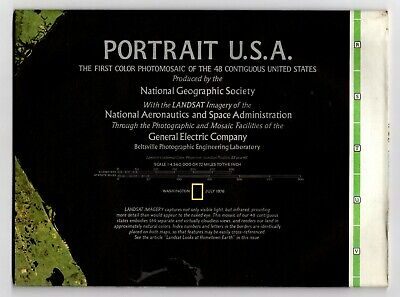 PORTRAIT USA 1976 VINTAGE NATIONAL GEOGRAPHIC MAP Wall Poster
