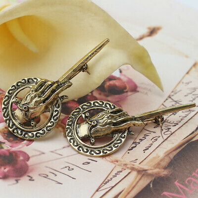 2x Game of Thrones Hand of the King Suit Shirt Bronze Alloy Brooch Pin Badge