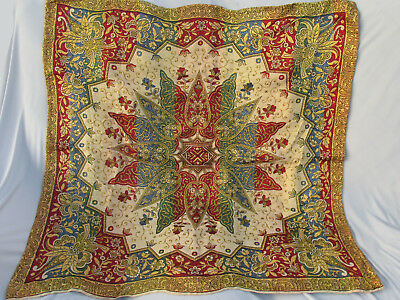 Antique Tapestry Table Cover Piano Shawl