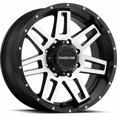 16 X8 Inch Black Machine Raceline 931 Injector Wheel Fits Gmc Ram