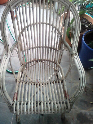 Vintage Antique Wicker Chair - Needs Repairs