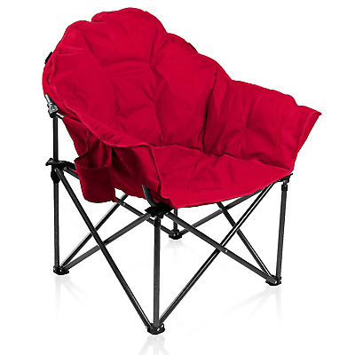 Amazing Alpha Camp Oversized Camping Chairs Padded Moon Round Chair Machost Co Dining Chair Design Ideas Machostcouk