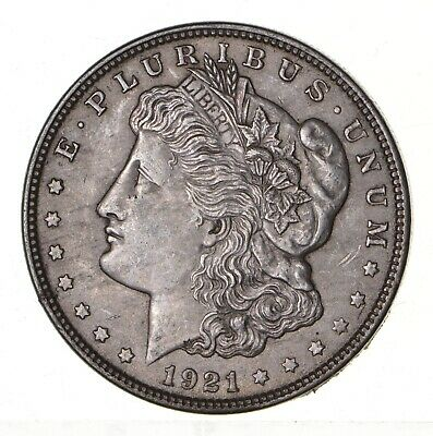 1921 - Morgan Silver Dollar - Last Year - 90% - US Coin *134