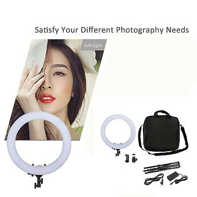 """18""""  Dimmable LED Ring Light 5500K&Light Stand Kit for Photography Makeup Live"""