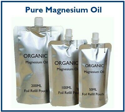 Magnesium Oil - Organic - Pure -  Pain Relief & Sleep Aid - Refill Pouch