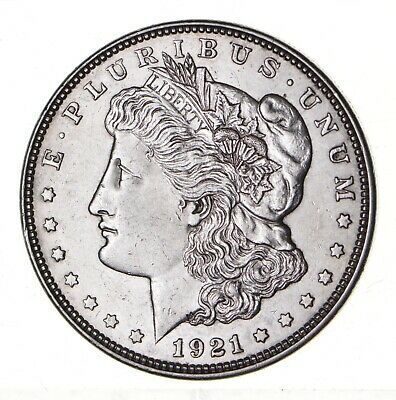 1921 - Morgan Silver Dollar - Last Year - 90% - US Coin *123