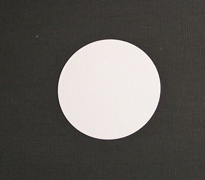 14 x White & Black Spellbinders Standard Circle Die Cuts Card Toppers Round Mats