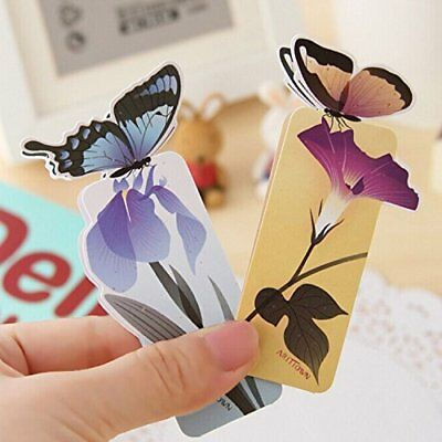 Cute 3D Butterfly Shape Bookmark! Good Gift to Reader, Book Clubs! Ships from US