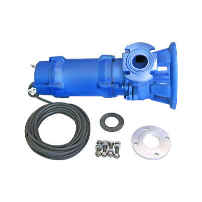Industrial Sewage Cutter Grinder Sump Pump 66 GPM 110V 2 HP Submersible