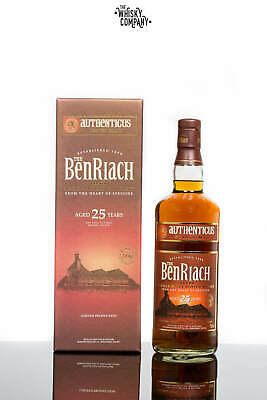 BenRiach Aged 25 Years Authenticus Peated Speyside Single Malt Scotch Whisky ...