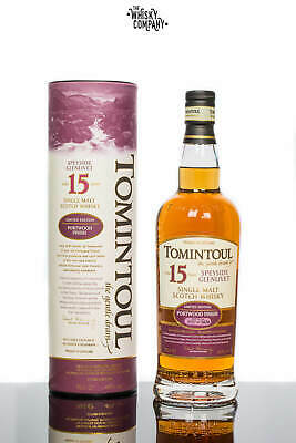 Tomintoul Aged 15 Years Portwood Finish Speyside Single Malt Scotch Whisky (7...