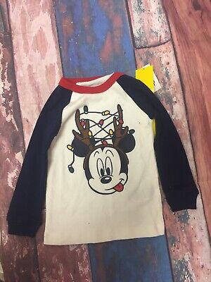 NEW Baby Gap boy 12-18M Mickey Mouse Long Sleeved Shirt