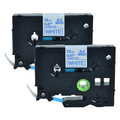High Quality 2PK Blue on White TZe TZ 233 Label Tape for Brother P-Touch 0.47''