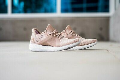 1807f6211 Adidas PUREBOOST X ELEMENT Women s Running Shoes Ash Pearl BB6088 AUTHENTIC!